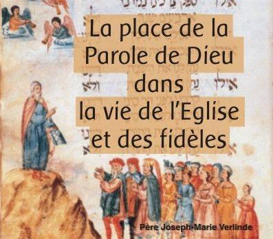 1 CD - La place de la Parole de Dieu dans la vie de l'Egl