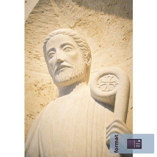 Carte Mont-Rouge - La statue de saint Joseph